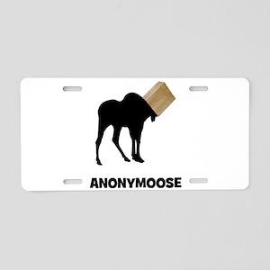 Anonymoose Aluminum License Plate