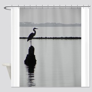 Heron Silhouette Shower Curtain