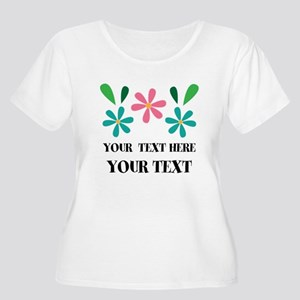 Personalized Flowered Gift For Her Plus Size T-Shi