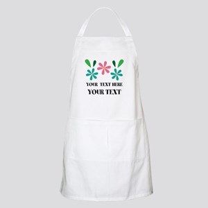 Personalized Flowered Gift For Her Light Apron