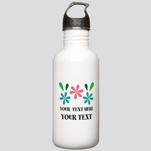 Personalized Flowered Gift For Her Water Bottle