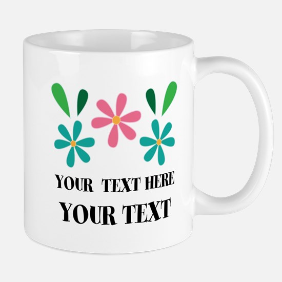 Personalized Flowered Gift For Her Mugs