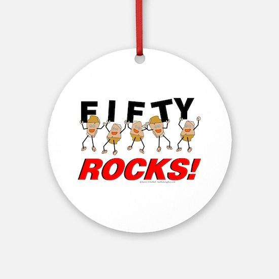 Fifty Rocks Ornament (Round)