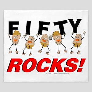 Fifty Rocks King Duvet
