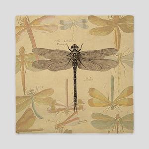 Dragonfly Vintage Queen Duvet