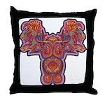 Red Quetzalcoatl Throw Pillow