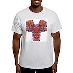 Red Quetzalcoatl Ash Grey T-Shirt