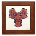 Red Quetzalcoatl Framed Tile