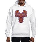 Red Quetzalcoatl Hooded Sweatshirt