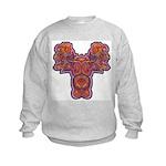 Red Quetzalcoatl Kids Sweatshirt