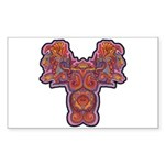Red Quetzalcoatl Rectangle Sticker