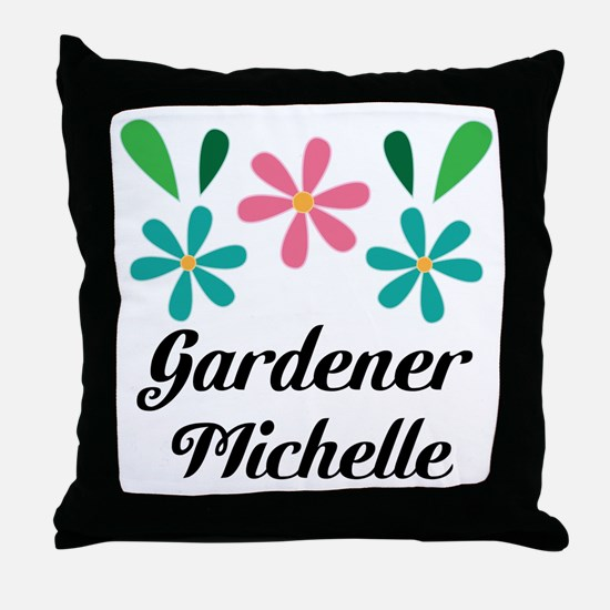 Gardener Personalized Gardening Gift Throw Pillow