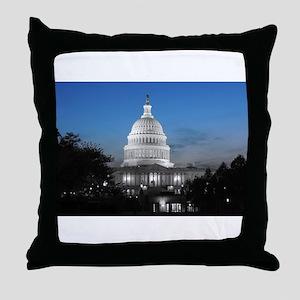 Capitol Hill Blue Throw Pillow