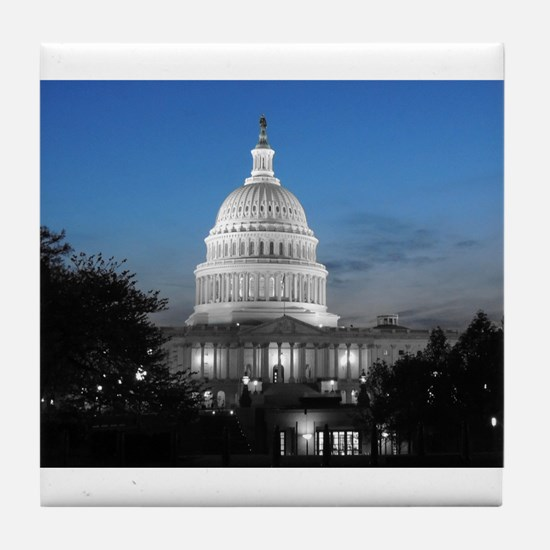 Capitol Hill Blue Tile Coaster