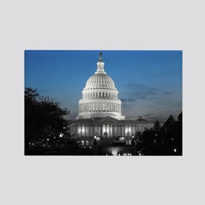 Capitol Hill Blue Rectangle Magnet