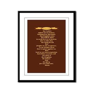 The Lords Prayer Wheat Framed Panel Print