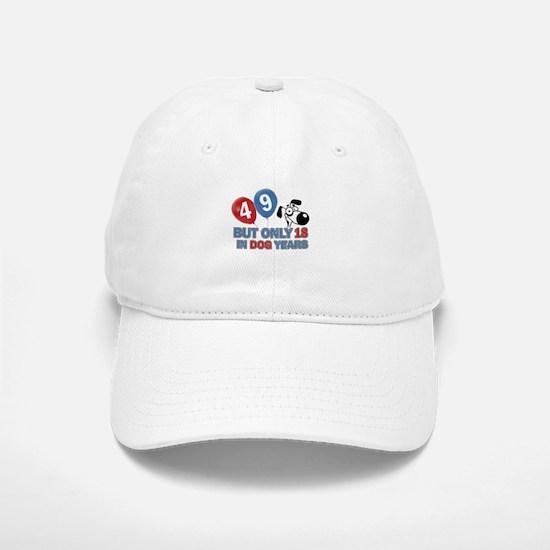 49 year old birthday design Baseball Baseball Cap