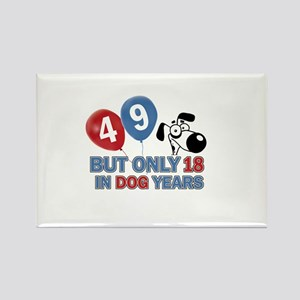 49 year old birthday design Rectangle Magnet