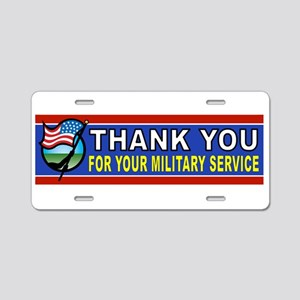 MILITARY THANKS Aluminum License Plate
