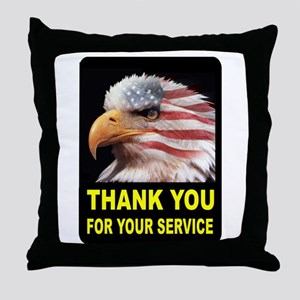 MILITARY THANKS Throw Pillow