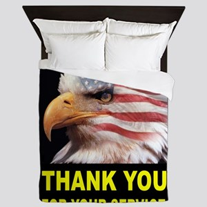 MILITARY THANKS Queen Duvet