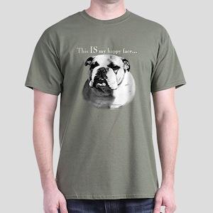 Bulldog Happy Face Dark T-Shirt