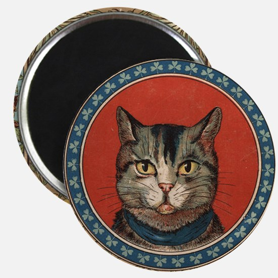 Cat World Vintage Kitty Magnet