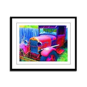 Old Abandoned Jalopy Truck Framed Panel Print