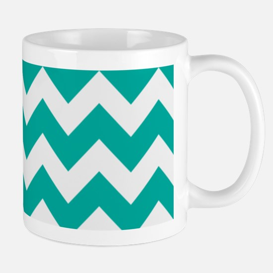 Turquoise Chevron Mug