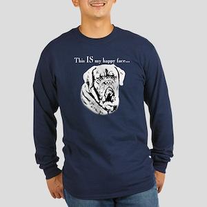 Dogue Happy Face Long Sleeve Dark T-Shirt