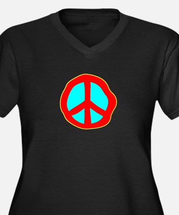 Dazed Peace Sign Plus Size T-Shirt
