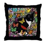Freckles in Butterflies I Throw Pillow