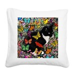 Freckles in Butterflies I Square Canvas Pillow