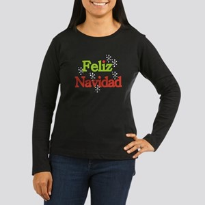 Feliz Navidad Women's Long Sleeve Dark T-Shirt