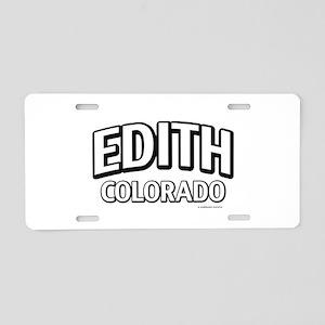 Edith Colorado Aluminum License Plate