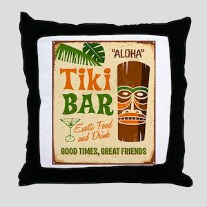 Tiki Bar Throw Pillow