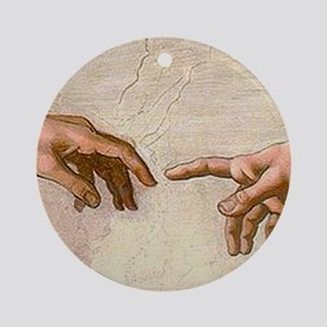 Michelangelo Creation of Adam Ornament (Round)