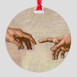 Michelangelo Creation of Adam Ornament