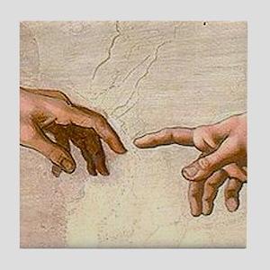 Michelangelo Creation of Adam Tile Coaster