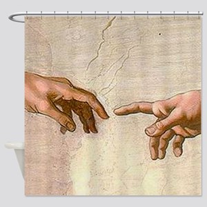 Michelangelo Creation of Adam Shower Curtain