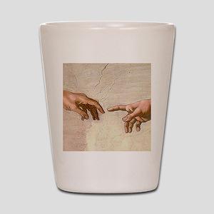 Michelangelo Creation of Adam Shot Glass