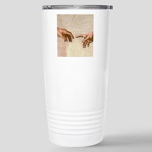 Michelangelo Creation of Adam Travel Mug