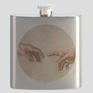Michelangelo Creation of Adam Flask