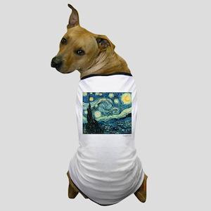 Starry Night Vincent Van Gogh Dog T-Shirt