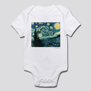 Starry Night Vincent Van Gogh Infant Bodysuit