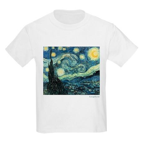 Starry Night Vincent Van Gogh Kids T-Shirt