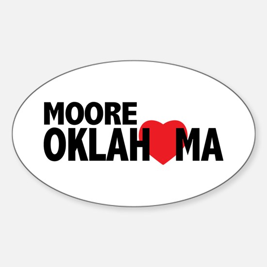 Moore Oklahoma Heart Decal