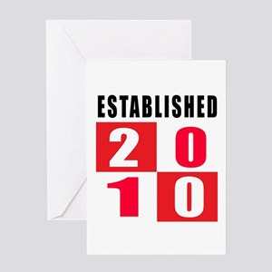 Established 2010 Greeting Card