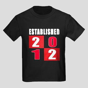 Established 2012 Kids Dark T-Shirt