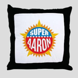 Super Aaron Throw Pillow